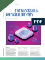 Impact of Blockchain on Digital identity