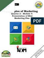marketing_q2_mod7_Presentation of Mini Marketing Plan