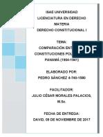 CONSTITUCIONES POLÍTICAS DE PANAMÁ