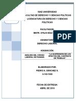 LA SUSPENCIÓN DE CONTRATOS EN PANAMÁ DERECHO LABORAL