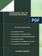 Clasificación legal de Sociedades Mercantiles