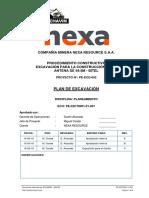 PLAN DE EXCAVACIÓN - ANTENA 49.5M - KM 0