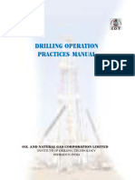 Ongc Drilling Operation Practices Manual