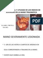 INDICES DE SEVERIDAD EN MANO TRAUMATICA