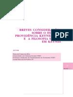 Bbreves Considerações Sobre o Estadoprovidência Keynesiano e a Filosofia Social Em Keynes