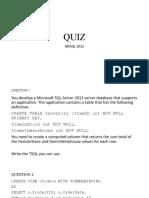 Quiz Niit Mssql