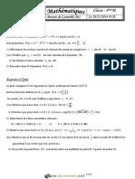 Devoir de Contrôle N°1 - Math - Bac Math (2016-2017) Mr Salhi Noureddine