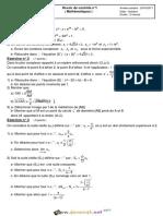 Devoir de Contrôle N°1 - Math - Bac Math (2016-2017) Mr S-SOLA