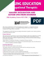 SENSORY INTEGRATION for ASD