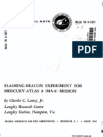 Flashing-Beacon Experiment for Mercury-Atlas 9 MA-9 Mission