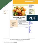 Spiedini di melone e prosciutto