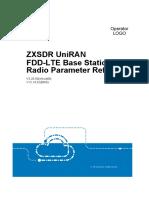 ZXSDR UniRAN FDD-LTE Base Station (V3.20.50) Radio Parameters Reference