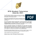 rts student television awards 2021 - criteria 1