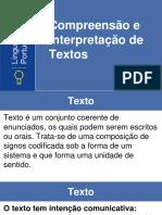 1-Compreensão e Interpretação de Textos