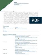 Currículo do Sistema de Currículos Lattes (Aline Dresch)