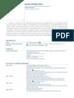 Currículo do Sistema de Currículos Lattes (Julio Eduardo Ornelas Silva)