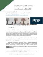 Coherencia, integridad y vida cotidiana
