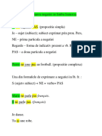 Exprimarea negatiei in limba franceza + Apostroful