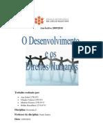 Desenvolvimento Direitos Humanos