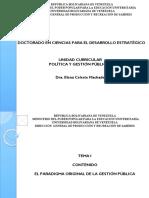 PRESENTACION POLITICAS Y GESTION PUBLICA