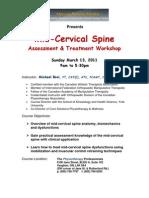 Mid Cervical Spine Registration March 2011