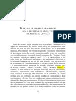 Lalitte Textures et paradoxes auditifs dans les oeuvres récentes de Levinas
