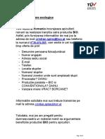 Oferta  Certificare BIO (Ecologica