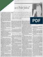 Entrevista Fernando Fueyo. Hay que categorizar el Poder Judicial