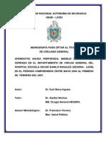 APENDICITIS AGUDA PERFORADA, MANEJO DE LA HERIDA CERRADA