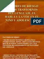 3 FACTORES DE RIESGO DE LOS TRASTORNOS DEL LENGUAJE