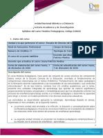 Syllabus del curso Modelos Pedagógicos
