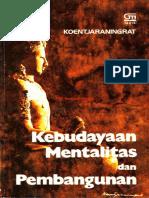 Kebudayaan Mentalitas Dan Pembangunan