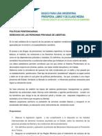 POLÍTICAS PENITENCIARIAS - DERECHOS DE LAS PERSONAS PRIVADAS DE LIBERTAD Completo