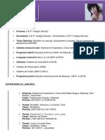 Curriculum Celenia Rosales