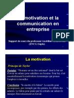 La Motivation Et La Communication en Entreprise