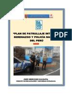 Plan Patrullaje Integrado Barranco 2020