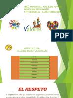 DIAPOSITIVAS INDUCCION DIA 1 - VALORES INSTITUCIONALES - CARACTERIZACION
