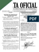 Gaceta Oficial N° 41.995