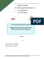 Rapport de diagnostic de la gestion des déchets - Commune de Bizerte 2009