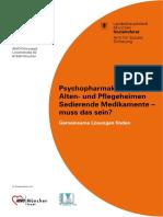 Psychopharmaka in Pflegeheimen