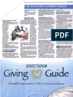 Hashoo Foundation in the Giving Guide 2007-2008 published by the Business Journal 1