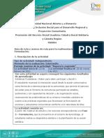 Guía de ruta y avance  de ruta para la realimentación - Fase 2 - Formulación