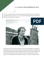 Hannah Arendt e o conceito de banalidade do mal - Sheborg - Medium