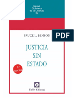 Justicia Sin Estado - Bruce L. Benson