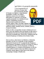 Aportes de Ángel Rubio a la geografía panameña