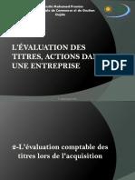 l'Évaluation Des Titres, Actions Dans Une Entreprise (2)