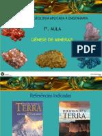 7 - Genese dos Minerais
