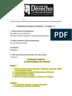 Programa PROCESAL A1