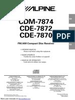ESTEREO CDE-7870