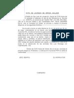 ACTA    DE    LACRADO   DE   DROGA - 30ABR2010
